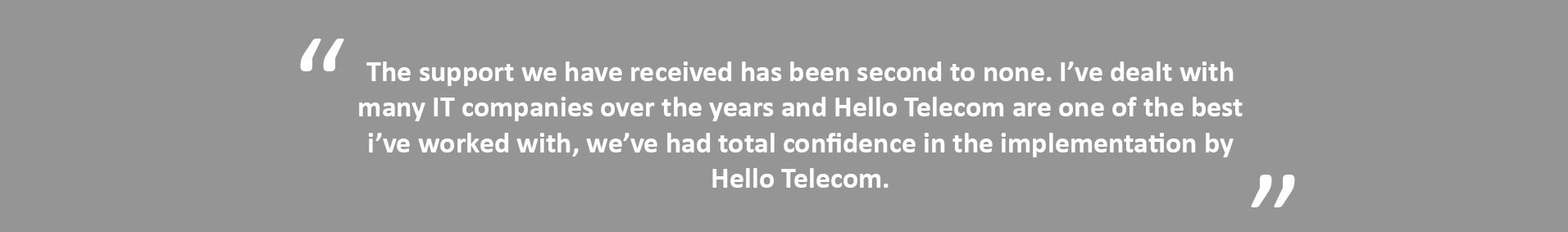 Hello Telecom VoIP for education quote