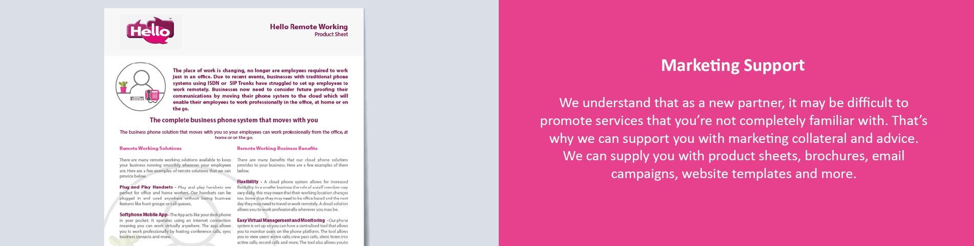 Hello Telecom VoIP partner program marketing support